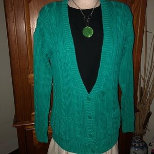 Sweaters - Vintage Green Cardigan